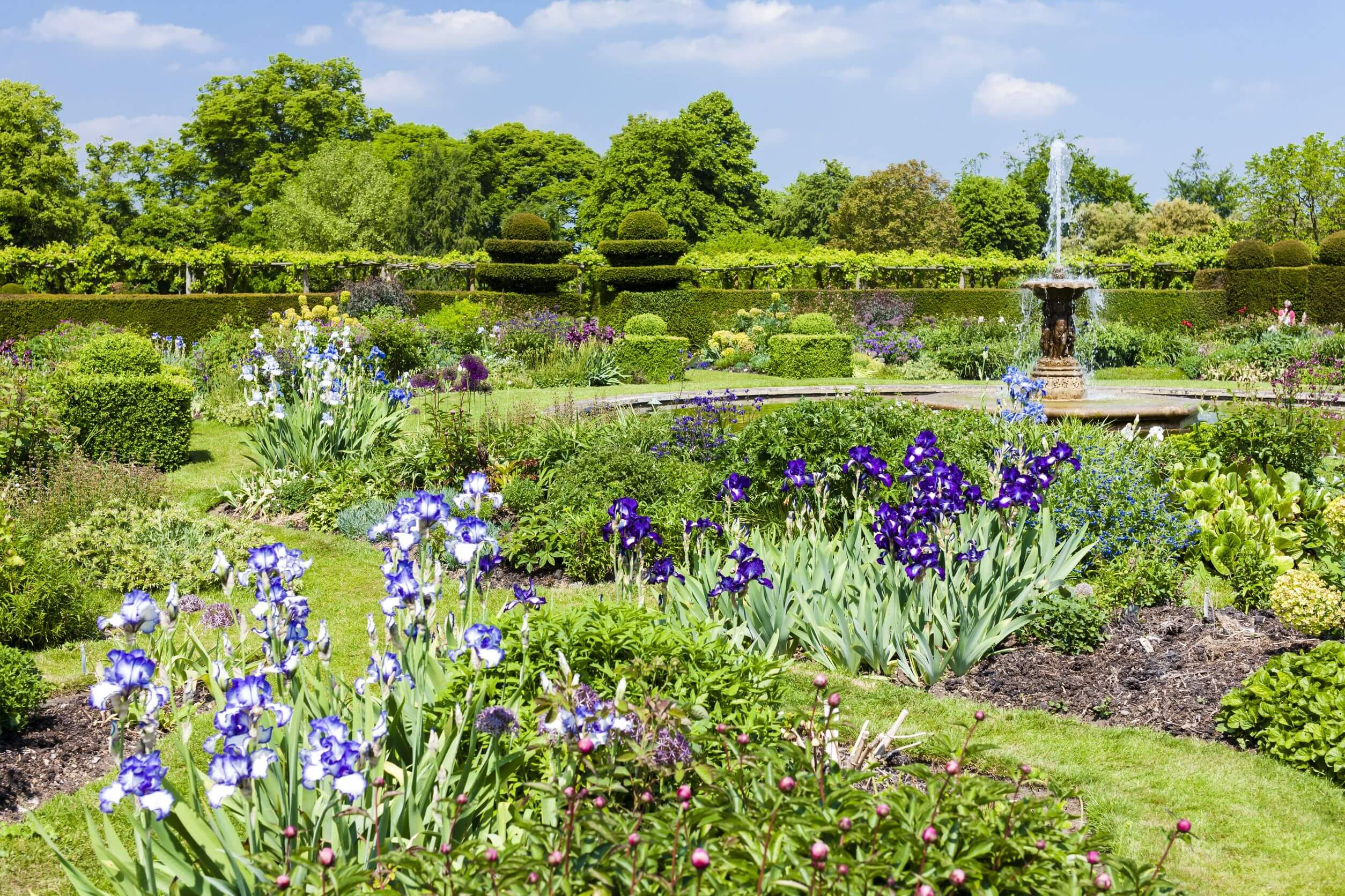 garden of hatfield house, hertfordshire, england