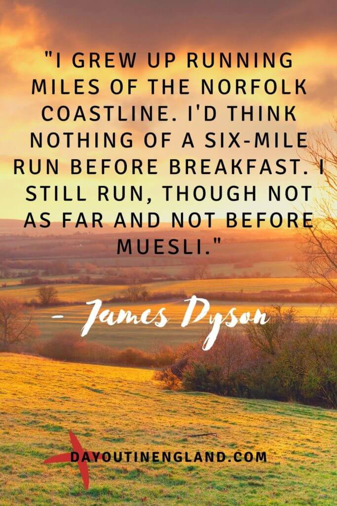 england quote from James Dyson