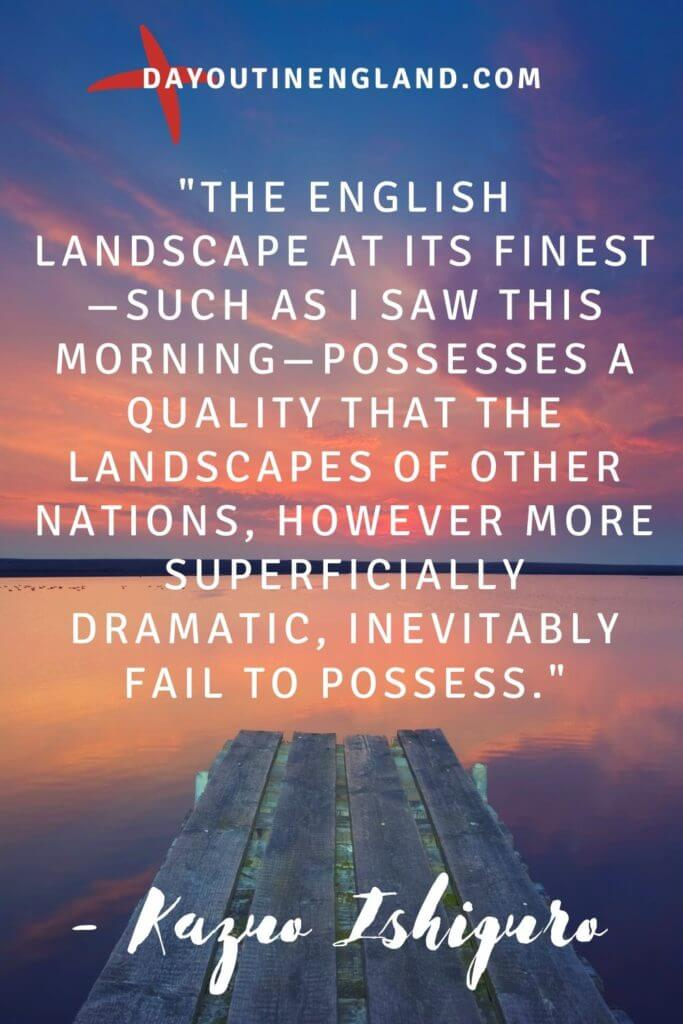 Kazuo quote about england