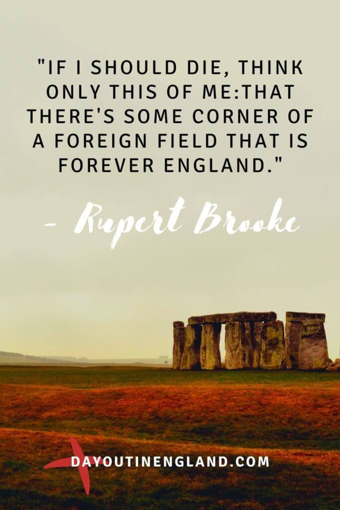 rupert brooke quote about england