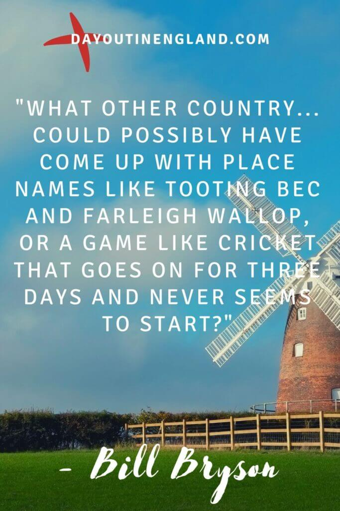 Bill Bryson quote about england