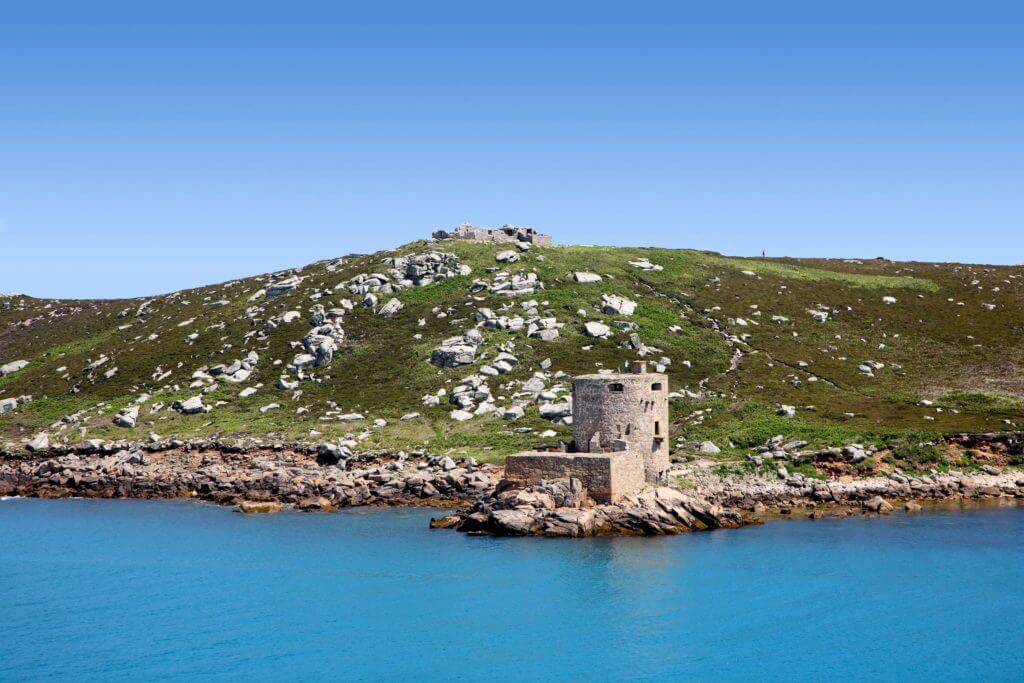 1236418 - cromwell's castle and king charles castle, isles of scilly, cornwall.