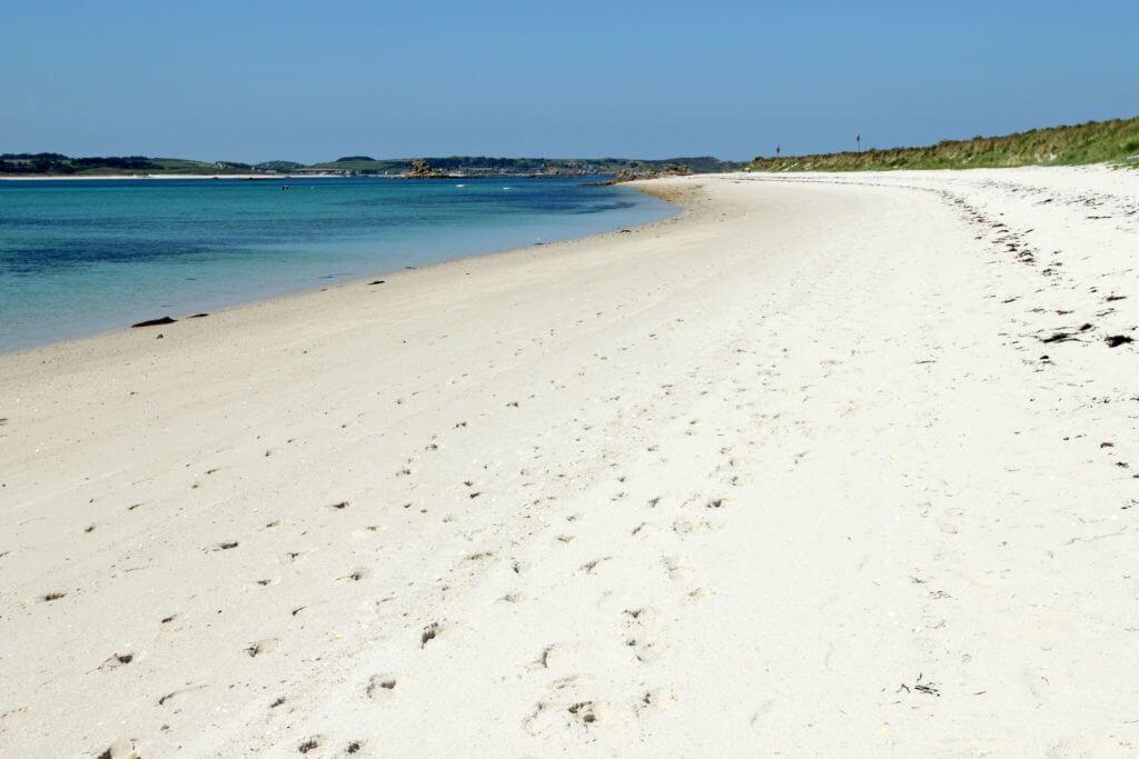 white sand beaches in england
