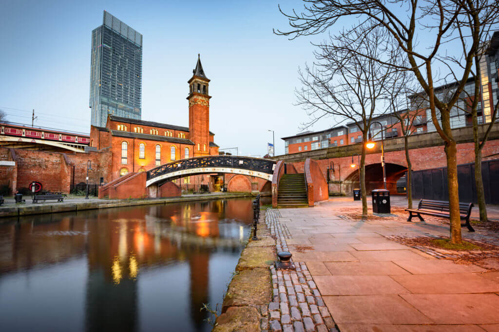 Water way canal area in Manchester ,North west England