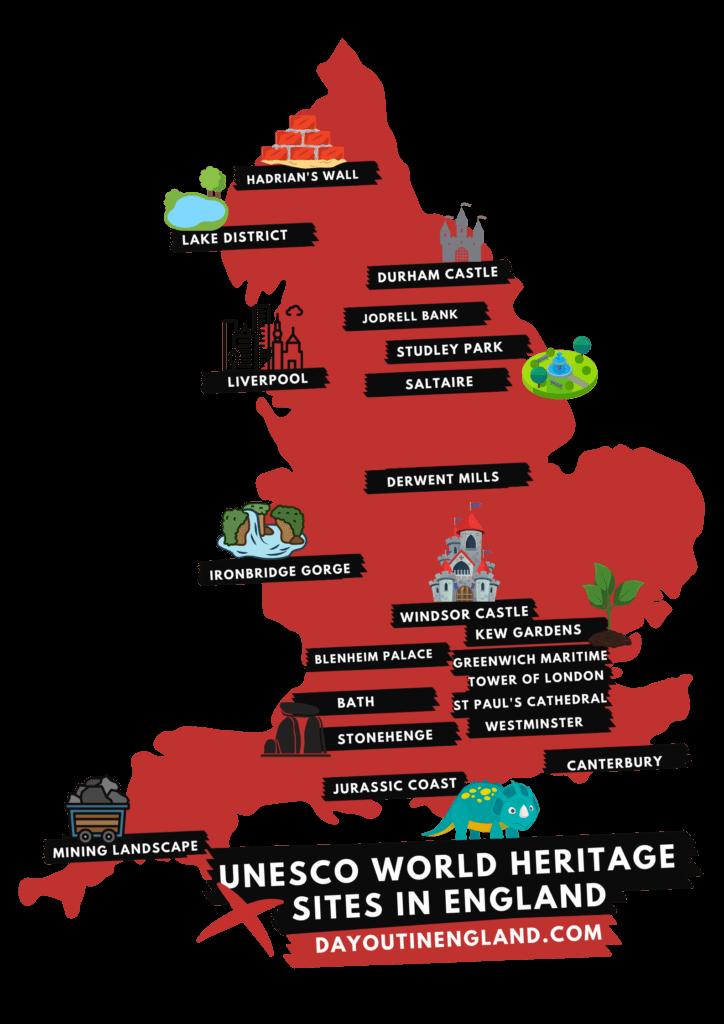 map of england UNESCO