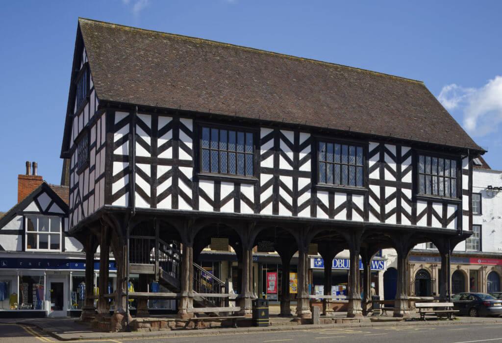 17th century grade I listed Market House, Ledbury, Herefordshire