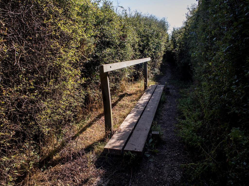 Bridge over muddy spots