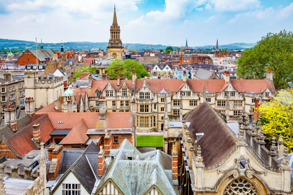 Cityscape of Oxford. Oxfordshire, England, UK