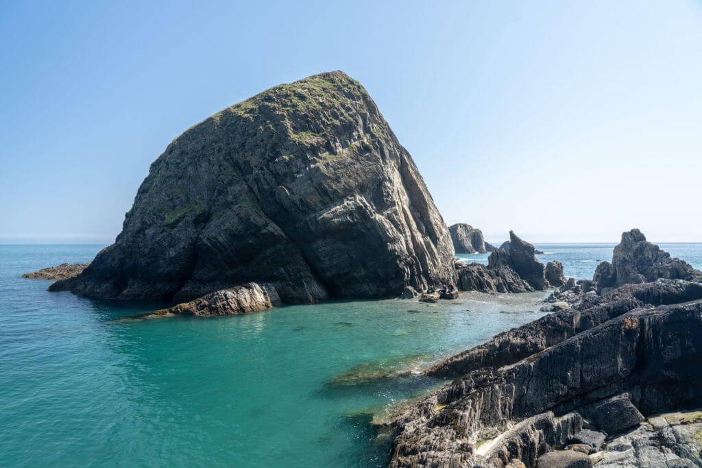 Mouse Island by the cliffs of Lundy Island off the coast of Devon