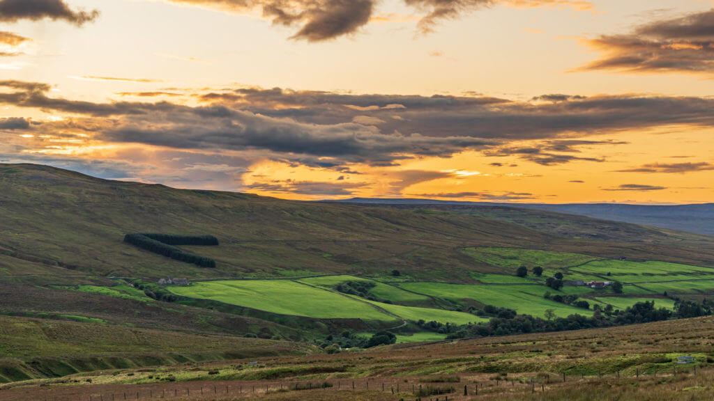 North Pennines landscape between Garrigill and Harwood in County Durham, England, UK