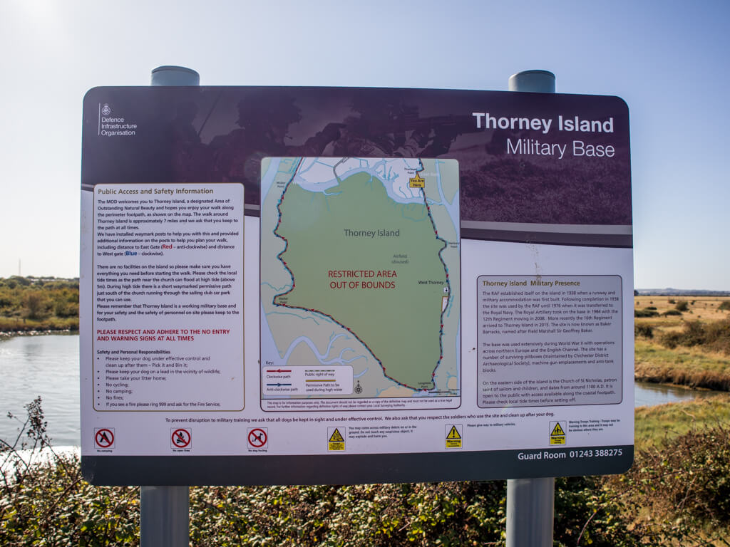 Map of Thorney Island