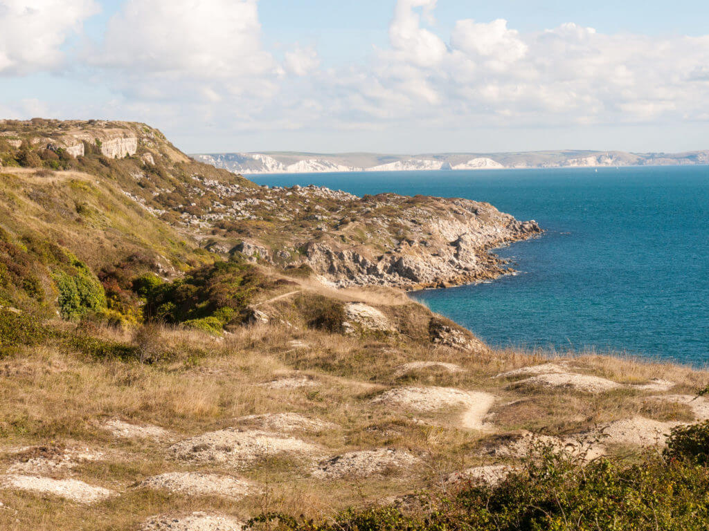 isle of portland coast dorset weymouth landscape space ocean summer nature jurassic coast; Dorset; England; UK