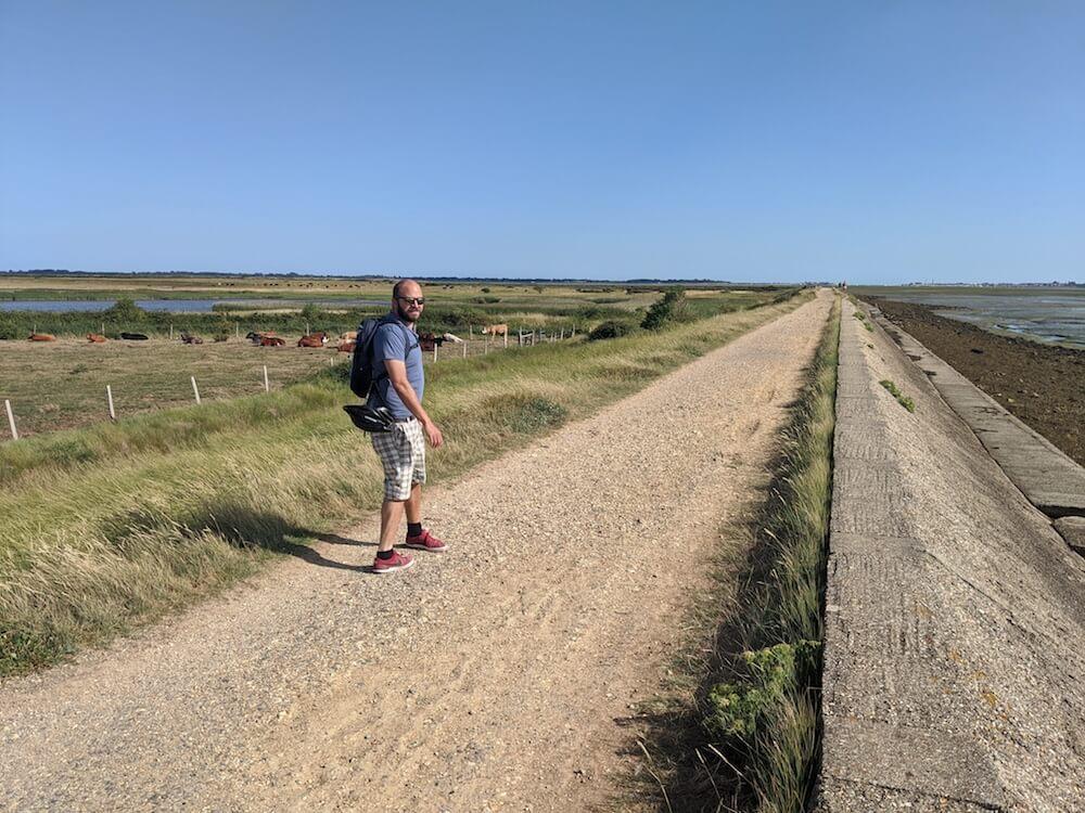 Walking round Farlington Marshes