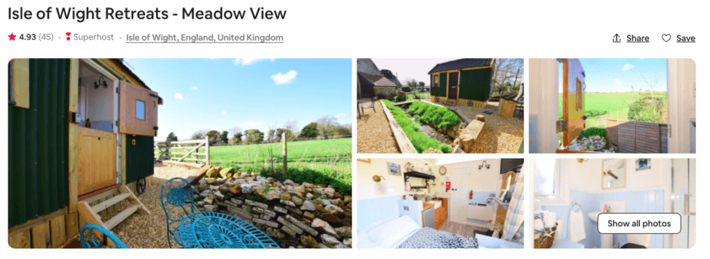 airbnbs on isle of wight