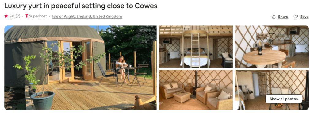 glamping isle of wight