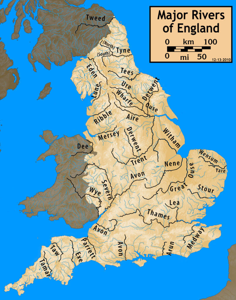 map of rivers in england