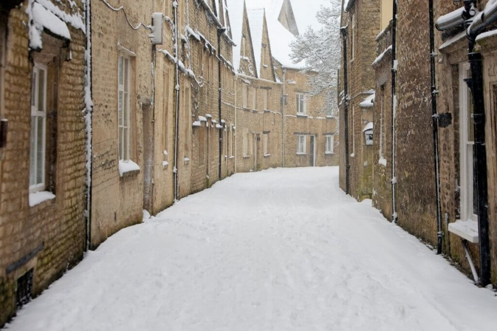 Cirencester Gloucestershire in winter