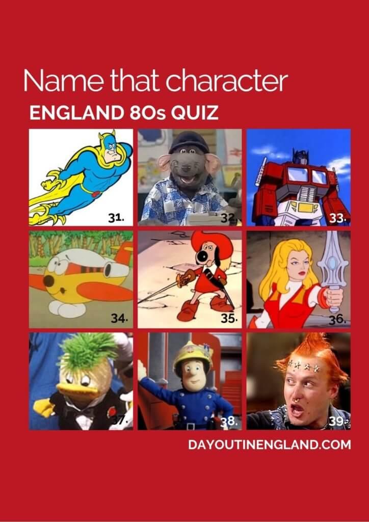 england 80s quiz