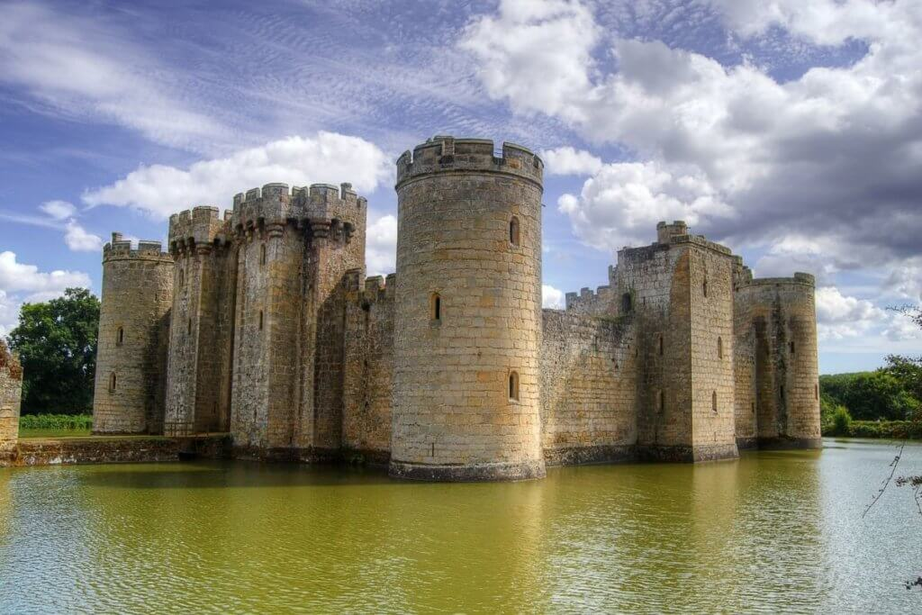 Day out at Bodiam Castle in East Sussex
