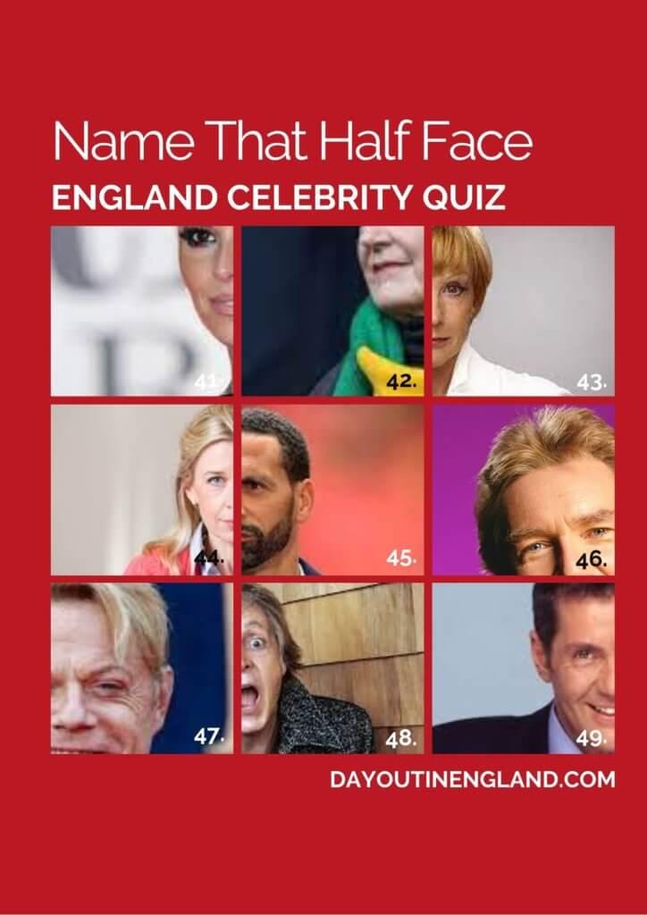 Celebrity quiz on england