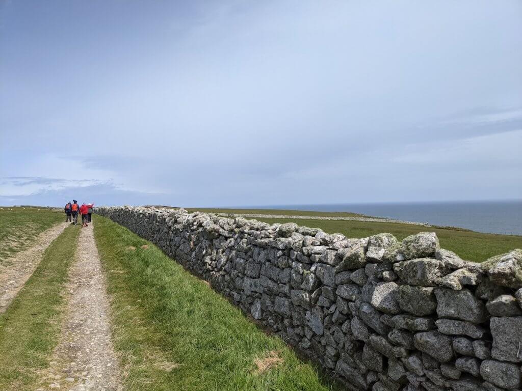 walking round lundy island