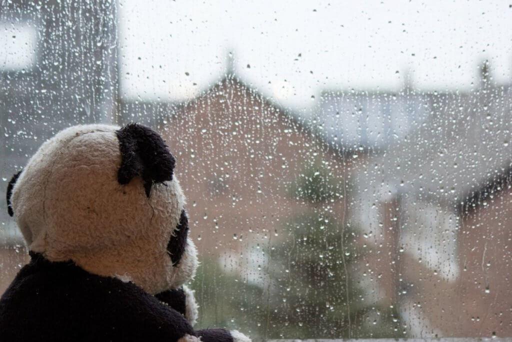 rainy day in england