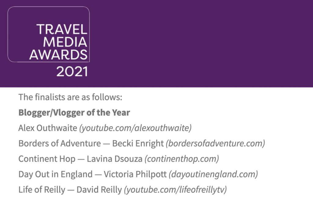 Travel Media Awards 2021